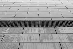 Fasada budynek zrobi szary metal Fotografia Royalty Free
