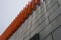 Fasada budynek zrobi szary metal Zdjęcie Stock