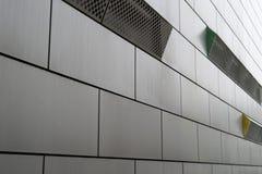 Fasada budynek zrobi szary metal Zdjęcia Royalty Free