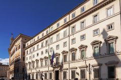 Fasada Chigi pałac w Rzym Obraz Stock