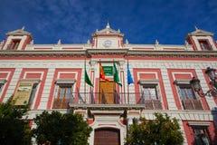 Fasada dom prowincja w Seville Obrazy Royalty Free