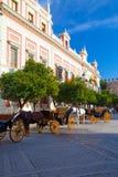 Fasada dom prowincja w Seville Zdjęcie Stock