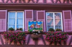 Fasada dom w Colmar Zdjęcia Royalty Free