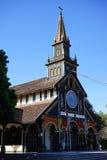 Fasada Drewniany kościół Zdjęcia Royalty Free