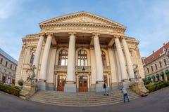 Fasada dziejowy budynek Krajowy teatr Oradea Zdjęcia Stock