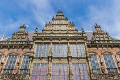 Fasada dziejowy urząd miasta Bremen zdjęcie royalty free