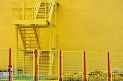 Fasada fabryczna farba Zdjęcia Royalty Free