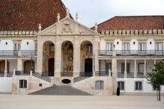 Fasada główny budynek Coimbra Obrazy Royalty Free