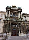 Fasada Hofburg pałac w Wiedeń zdjęcia stock