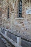 Fasada i okno ażio Nikà ³ Laos Ragavas kościół w Plaka - okręg Ateny Zdjęcie Royalty Free