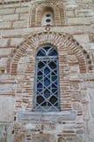 Fasada i okno ażio Nikà ³ Laos Ragavas kościół w Plaka - okręg Ateny Obrazy Royalty Free