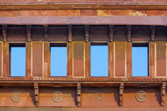 Fasada Jahangiri Mahal w czerwonym Forcie w Agra Obraz Stock