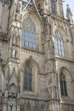Fasada katedra Barcelona lokalizował w starej części Fotografia Stock