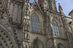 Fasada katedra Barcelona lokalizował w starej części Zdjęcia Stock