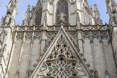 Fasada katedra Barcelona lokalizował w starej części Obraz Stock