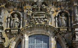 Fasada katedra Santiago De Compostela Obrazy Royalty Free