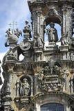 Fasada katedra Santiago De Compostela Zdjęcie Stock