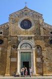 Fasada katedra - Volterra obrazy royalty free