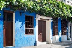 fasada kolonialny dom Zdjęcie Stock