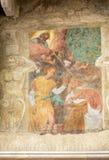 Fasada Mazzanti dom dekorował z frescoes verona Fotografia Royalty Free