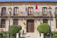 Fasada miasto El Toboso, Toledo, Hiszpania Obraz Royalty Free
