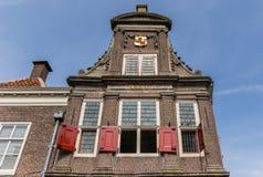 Fasada monumentalny ważenie budynek w Monnickendam Zdjęcia Stock