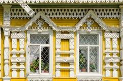 Fasada muzeum miasto tryb życie, Uglich, Rosja fotografia stock