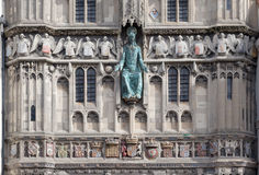 Fasada outside wejście Canterbury katedra, Kent, Anglia Zdjęcia Royalty Free
