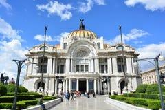Fasada Palacio De Bellas Artes muzeum w historycznym centrum Meksyk zdjęcie royalty free
