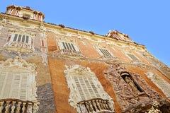 Fasada Palacio Del Marques de Dos Aguas, Walencja Obrazy Stock