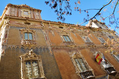 Fasada Palacio Del Marques de Dos Aguas, Walencja Zdjęcia Stock