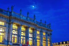 Fasada Palazzo Madama w Turyn Podgórskim, Włochy Zdjęcia Royalty Free