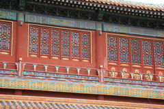 Fasada pawilon Pekin, Chiny - - Zakazujący miasto - Zdjęcia Royalty Free
