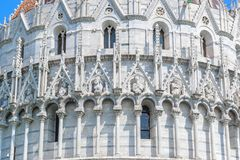 Fasada Pisa Baptistery w Włochy Obraz Royalty Free
