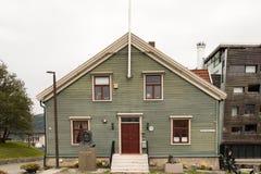 Fasada Pollar muzeum w Tromso, Norwegia zdjęcia royalty free
