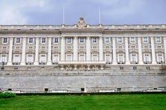 Fasada Royal Palace, Madryt zdjęcie stock