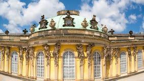 Fasada Sanssouci kasztel w Potsdam, Niemcy Obraz Royalty Free