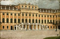 Fasada Schonbrunn pałac - rocznik Zdjęcie Stock