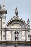 Fasada Scuola Grande Di San Marco w Wenecja Zdjęcie Stock
