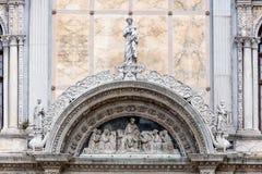 Fasada Scuola Grande Di San Marco w Wenecja Zdjęcie Royalty Free
