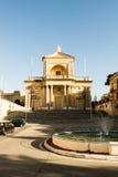 Fasada St Joseph kościół w Kalkara Malta fotografia stock