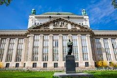 Fasada stan?w archiwa buduje w Zagreb obrazy royalty free