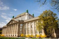 Fasada stan?w archiwa buduje w Zagreb fotografia stock