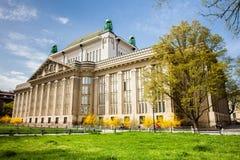 Fasada stan?w archiwa buduje w Zagreb obraz royalty free