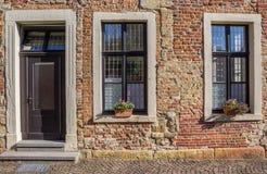 Fasada stary dom w Steinfurt zdjęcia royalty free