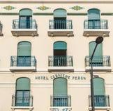 Fasada stary Hotelowy Peron w Marseille, Fotografia Royalty Free