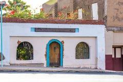 Fasada Stary Zakłopotany budynek fotografia stock