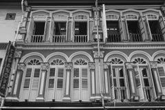 Fasada starzy budynki w Chinatown, Singapur Fotografia Royalty Free