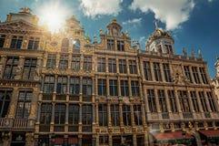 Fasada starzy typowi budynki w Bruksela Zdjęcie Stock