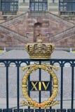 Fasada Sztokholm Królewskiego Palace/Kungliga slottet w Gamla stan/starym miasteczku, Sztokholm Obrazy Stock